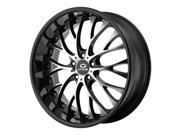 Lorenzo WL27 WL02728512315A 20x8.5 5x114.3 +15mm Gloss Black/Machined Wheel Rim