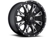 Fuel D513 Throttle 18x10 5x139.7/5x150 -24mm Black/Milled Wheel Rim