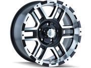 "ION 179 179-7885B 17x8 5x139.7/5x5.5"" +10mm Black/Machined Wheel Rim"