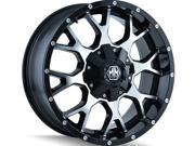 Mayhem 8015 Warrior 18x9 5x139.7/5x150 -12mm Black/Machined Wheel Rim