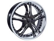 Forte F59 Nickel 22x8.5 5x105/5x110 +35mm Black/Machined Wheel Rim