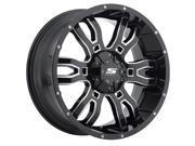 Sendel S34 Sniper 20x9 6x135/6x139.7 -12mm Black/Milled Wheel Rim