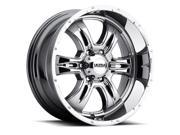 Ultra 249V Predator II 18x9 6x139.7 +18mm PVD Chrome Wheel Rim