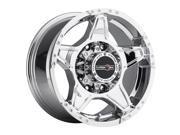 "Vision Off-Road 395 Wizard 18"" (18x9) 8x165.1 +25mm Chrome Wheel Rim"