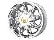 Vogue V03 19x8 5x120 +32mm Phantom Chrome Wheel Rim