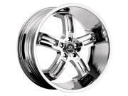 Lorenzo WL26 22x9 5x112 +18mm Chrome Wheel Rim