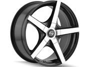 Sacchi S72 16x7 5x112/5x120 +42mm Black/Machined Wheel Rim