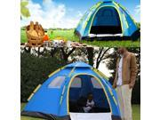 Outdoor Large 6 Person Hiking Camping Automatic Instant Pop up Family Tent Blue Shipped From US Warehouse