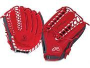 "Rawlings G601SG 12.75"" Gold Glove Gamer XLE Series Red / Grey Baseball Glove"
