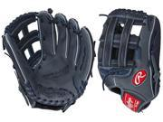 "Rawlings G120PTGN 12"" Gold Glove Gamer XLE Grey/Navy Pro Taper Baseball Glove"