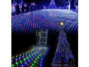 Amzdeal  100 Led Net Mesh Fairy String Light Christmas Wedding Multicolor Changing RGB Party Fairy String Lights with 8 Function Controller- Decorative Fairy Lights Twinkle Lighting