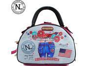 Nicole Lee Exclusive Muneca Lucia Print Bowler Bag