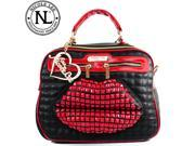 Nicole Lee Studded Lip Design Quilted Tote Bag