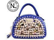 Nicole Lee Dulce Sparkling Buttons & Studs Boston Bag