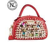 Nicole Lee Dulce Sparkling Buttons & Studs Boston Bag$64.99In stock