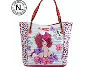 Nicole Lee Sunny White Print Tote Bag