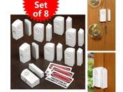 Hampton Direct Set Of 8 Wireless Alarm & Door Chimes W/Security Warning Cling-On
