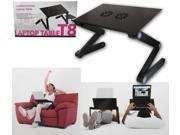Evelots Multi-Functional Tray Stand w/USB-Powered Cooling Fans  Laptops