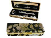 Hampton Direct Compact Travel Jewelry Case w/ Mirror Assorted Colors, Black