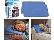 Chillow Cooling Pillow Pad Insert Comfort Sleeping Therapy As Seen On Tv, 2 Pack