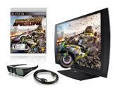"Sony CECH-ZED1U PlayStation - 24"" 3D 1080p 240Hz Widescreen, LED LCD 3-in-1 Monitor, w/SimulView Technology, 3D Glasses and MotorStorm - Apocalypse Bundle"