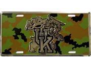 University of Kentucky Aluminum Camouflage Team Plate