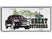 Ford The Great Outdoors Metal License Plate