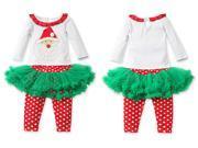 Teenloveme® New Children Long Sleeves Red Christmas Shows dot Top & Pants