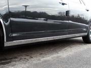 "08-12 Chevy Malibu 4p Luxury FX Chrome 2 3/8"" Lower Rocker Molding Trim"