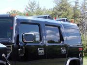 2003-2009 Hummer H2 8pc. Luxury FX Chrome Top Rail Cover Trim