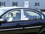 06-11 Hyundai Accent 14p Luxury FX Chrome Window Package (w/Posts, w/o Sill)