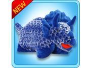 """Authentic Pillow Pets Dinosaur Dino Blue Triceratops  Small 11"""" Plush Toy Gift"""