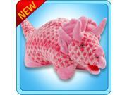 """Authentic Pillow Pets DINO Dinosaur Pink Large 18"""" Plush Toy Gift"""