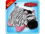 "Authentic Pillow Pets Zippity Zebra Pink/White Huge XXL 30"" Jumboz Plush Toy"