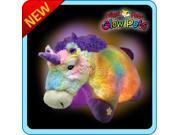 "Authentic LED Unicorn Rainbow Pillow Pets Glow Pets Large 17"" Toy Gift"