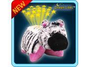Authentic Pillow Pets Pink and White Zippity Zebra Dream Lites Toy Gift