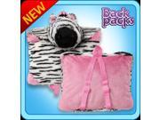 Authentic Pillow Pet Zebra Backpack  for Notebooks and Tablets Plush Toy Gift