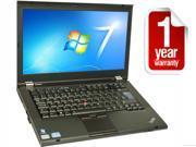 "Refurbished:  Lenovo ThinkPad T420 - I7-2620 2.7GHz - 8GB RAM - 128gb SSD - Webcam - Bluetooth - 14"" - Win 7 Pro  - 1 YEAR WARRANTY"