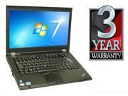 "Lenovo ThinkPad T420 - I5-2520 2.5GHz - 4GB RAM - 500gb Hard Drive - DVD - 14"" - Win 7 Pro - 3 YEAR WARRANTY"