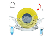 Mini Water Resistant Bluetooth 3.0 Shower Speaker, Handsfree Portable Speakerphone with Built-in Mic, 6hrs of playtime, Control Buttons and Dedicated Suction Cup for Showers, Bathroom, Pool, Boat, Car
