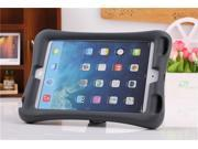 Kenton® Shockproof Silicone Case Protective Safe Handle Stand Case Cover Rubber Shock-Resistant Easy Grip Children's Case with Bracket for iPad Mini 1 / 2 Color Black