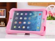Kenton® Shockproof Silicone Case Protective Safe Handle Stand Case Cover Rubber Shock-Resistant Easy Grip Children's Case with Bracket for iPad Mini 1 / 2 Color Pink