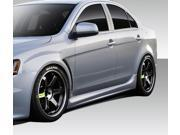 2008-2014 Mitsubishi Lancer Duraflex Evo X V3 Side Skirt Rocker Panels - 2 Piece