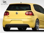 2006-2009 Volkswagen GTI Rabbit Duraflex R Look Rear Bumper Cover - 1 Piece