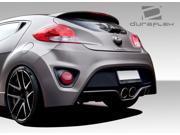 2012-2013 Hyundai Veloster Duraflex Turbo Look Rear Bumper Cover - 1 Piece