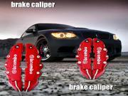 new 3D Red Brembo Style Disc Brake Caliper Cover 4pcs Front & Rear