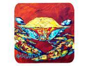 Set of 4 Crab Wrinkles Foam Coasters