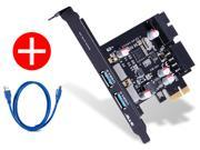 STW 2 Port USB 3.0 to Pci-e PCI Express Card Adapter Converter Motherboard 20 Pin Connector