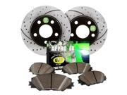 1997 Acura CL 4 Cylinder 2.2L Approved Performance J26252 - [Front Kit] Performance Drilled/Slotted Brake Rotors and Carbon Fiber Pads
