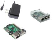 Raspberry Pi Model B+ w/Clear Case & 5v 2A PSU